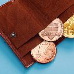 Portfel z monetami